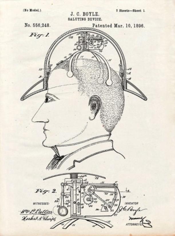 James C. Boyle, Saluting Device, 1896.