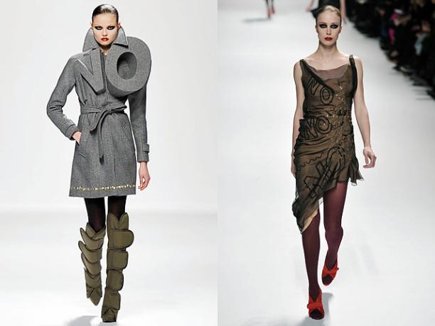 Viktor & Rolf, look 1 & 32, collectie 'No', 2008. Foto: ©Style.com.