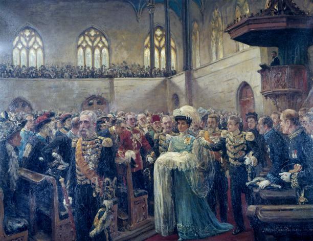 Doop van Prinses Juliana op 5 juni 1909, Jan Hoynck van Papendrecht, 1909, Paleis Het Loo Apeldoorn, bruikleen GVON.