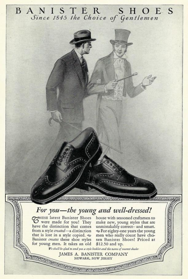 Advertentie brogue schoenen