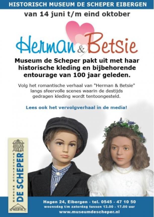 Agenda Modemuze tentoonstelling Herman & Betsie historische kleding Museum de Scheper 2017