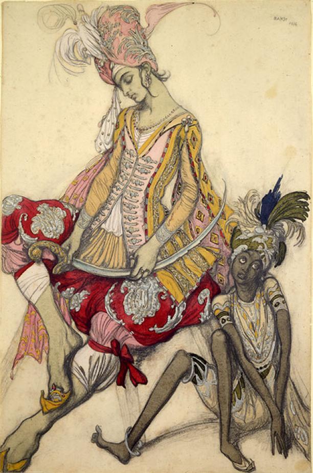 Kostuumontwerp Léon Bakst voor la Belle au Bois Dormant, 1921.