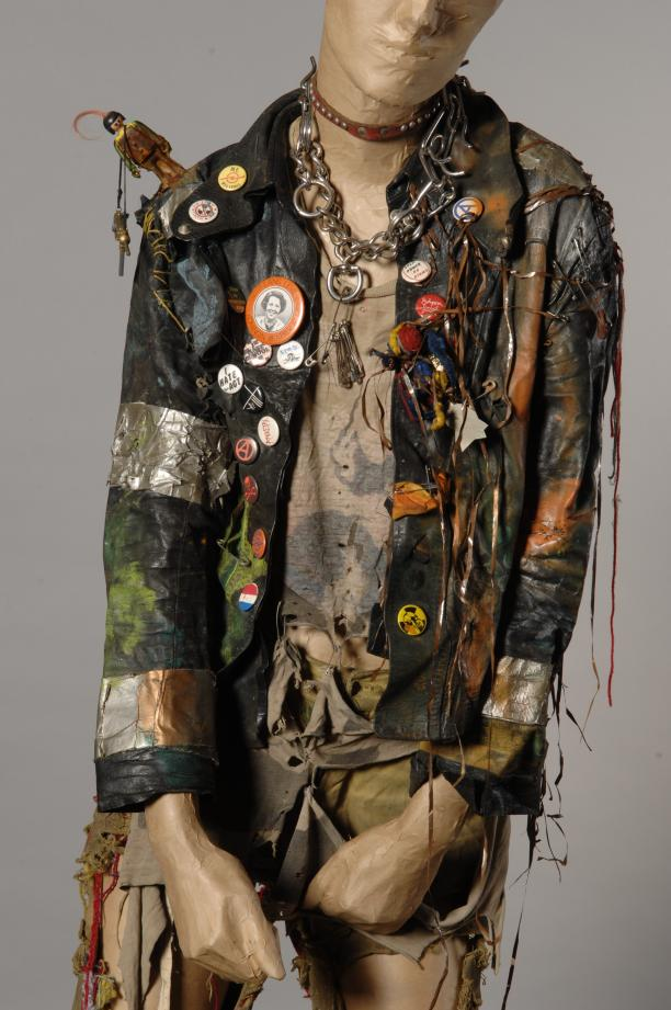 Korte zwarte leren jas, maker onbekend, 1981-83, Museum Rotterdam
