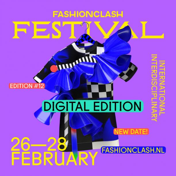 Grafische vormgeving poster voor fashionclash festival