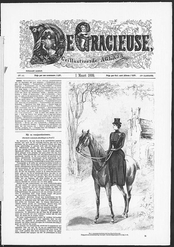Gracieuse. Geïllustreerde Aglaja, 1 maart 1899, Gemeentemuseum Den Haag
