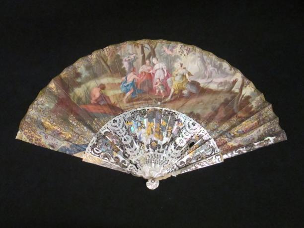 Waaier met 'oordeel van Paris', vermoedelijk huwelijkswaaier, 1725-1750, KT 38-198 Gemeentemuseum