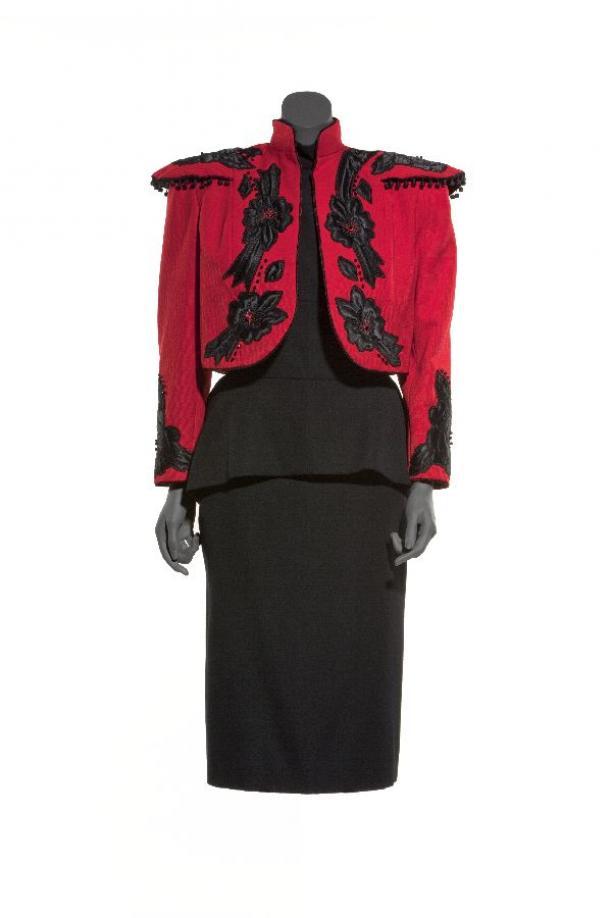 Rode Wollen Jurk.Ensembles Jurken Boleros Vrouwenkleding Modemuze