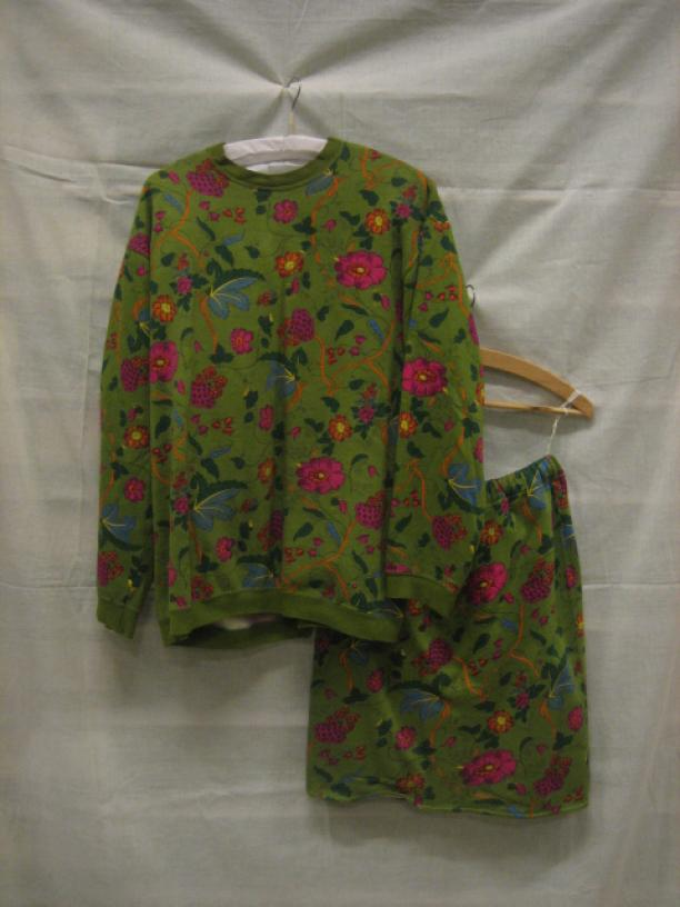 Blog Modemuze, Ninke Bloemberg, Oilily set van groene katoen, circa 1990-1997, collectie Gemeentemuseum Den Haag, objectnr. 0811074