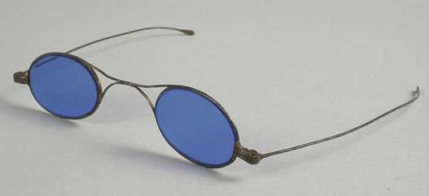 Zonnebril Met Kleine Ronde Glazen.Zonnebril Kleine Blauwe Ovale Glazen Fijn Montuur Van