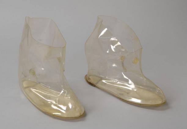 Fonkelnieuw Overschoenen van transparant plastic, voor damesschoenen, sluiting VE-53