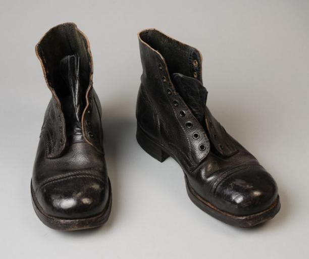 Leren Werkschoenen.Zwarte Leren Werkschoenen Modemuze