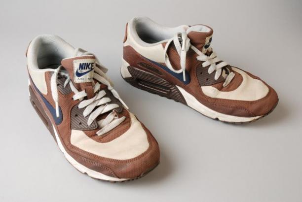 ececb6c703 Paar sneakers, merk Nike, type Air Max, maat 43, kleuren bruin, wit en grijs