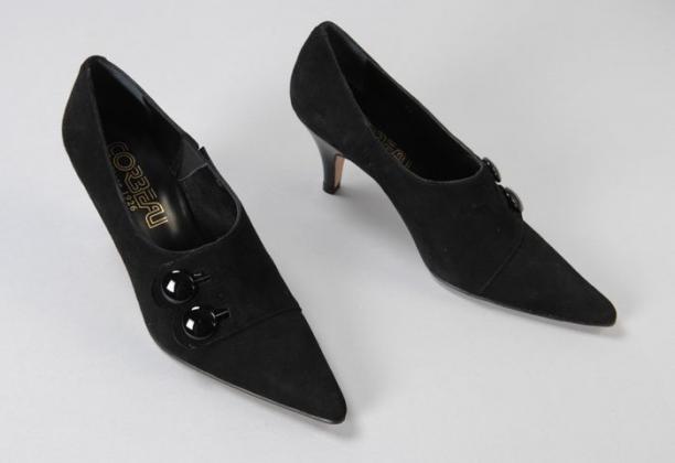 zwarte suede damesschoenen