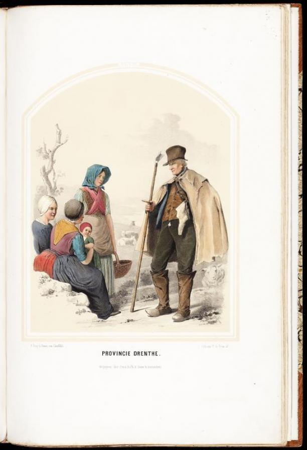 Schaapherder Drentse Met Provincie En Vrouwen Kind DrentheModemuze NPOkn08wX