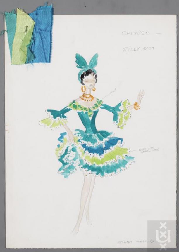 Kostuumontwerp Voor Milly Scott In Het Nummer Calypsotime