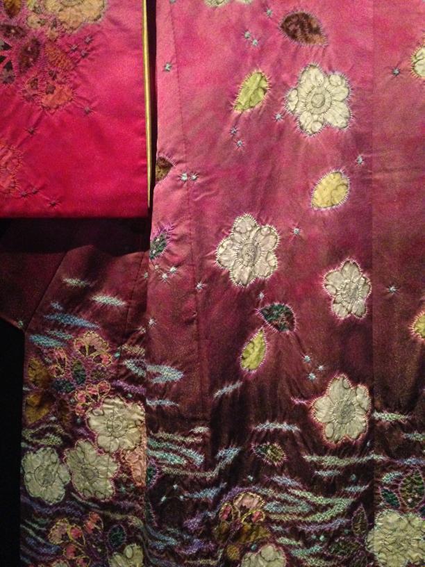Itchiku Kuboto, kimono 'Kersenbloesem' (detail)