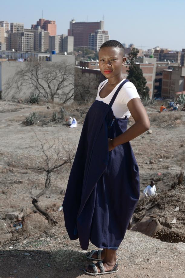 Miss Milli B., modeblogger Johannesburg. Foto: Victor Dlamini.