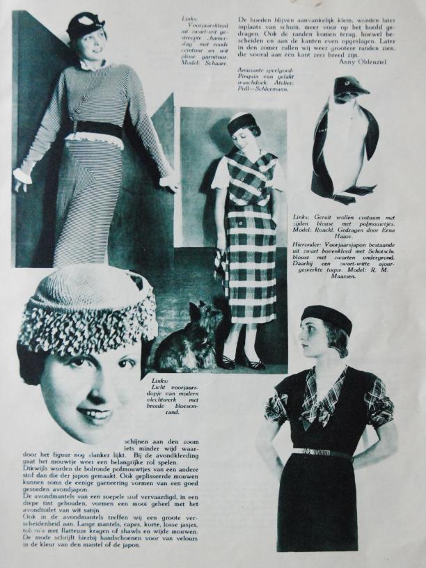 pagina met mode-nieuws uit 1933