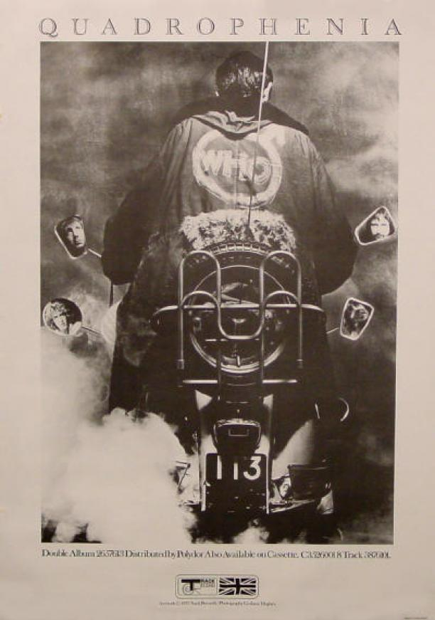 Promotiemateriaal voor het album 'Quadrophenia' van The Who uit 1973. Meer informatie via nytimes.com.