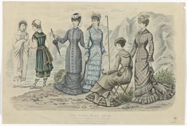 Foto 2: Prent uit het modetijdschrift Les Modes de la Saison (1871-1885), ca. 1881, No. 504. (RP-P-2009-3690)
