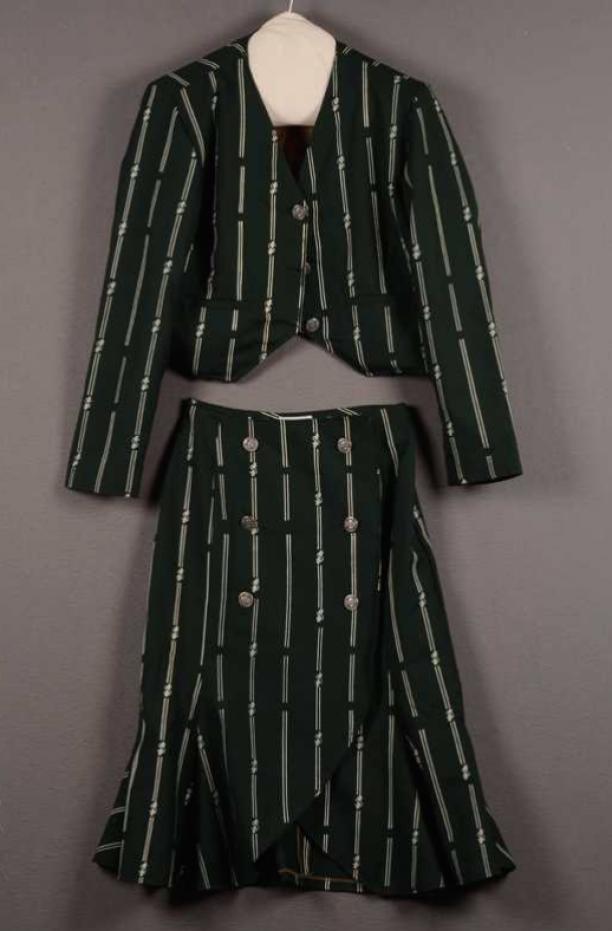 Gletcher, damesensemble bestaande uit jasje en rok, datum onbekend, Centraal Museum Utrecht