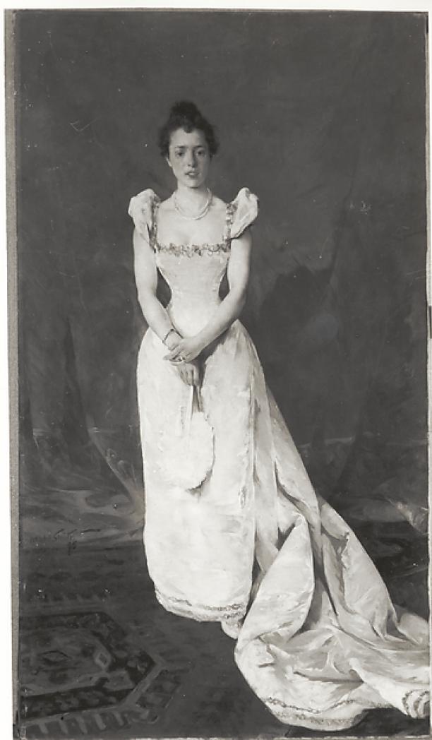 Schilderij Hobbe Smith - Hobbe Smith (1862-1942), Portret van Marie van Someren Brand-Zoethout, 1895