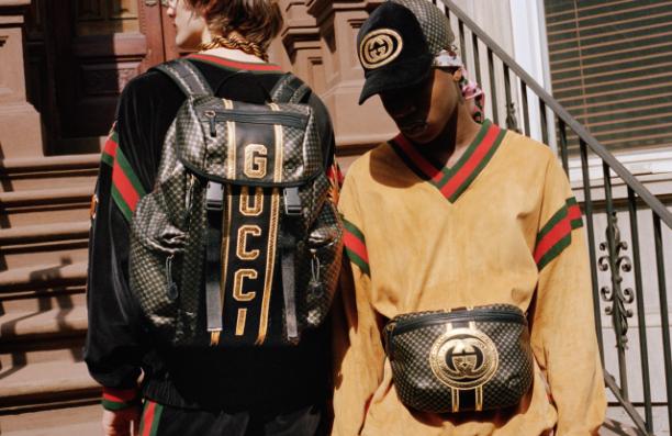 Advertentie Gucci x Dapper Dan collectie 2018. Foto: Ari Marcopoulos.