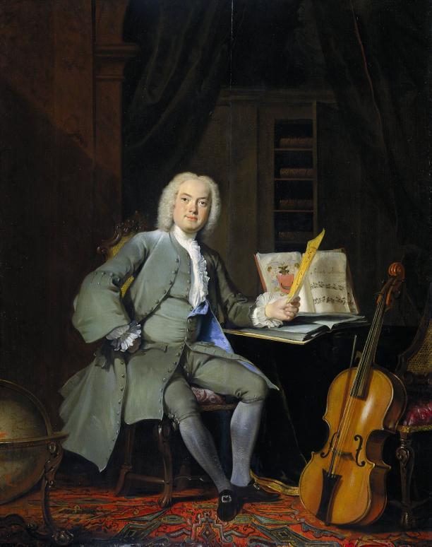 Portret van een lid van de familie Van der Mersch, Cornelis Troost, 1736, Rijksmuseum