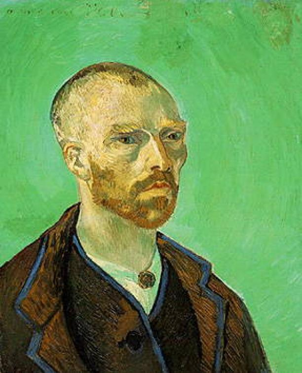 Vincent van Gogh, Self-Portrait [dedicated to Paul Gauguin], 1888, Fogg Art Museum, Harvard University