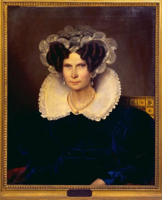 Jan Baptist van der Hulst, portret van Koningin Frederica Louise Wilhelmina der Nederlanden, 1828. Bron: Ora-web.swkk.de.