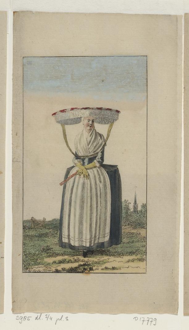 """""""Friezin"""" (nr. 17779), prent uit Kabinet van Mode en Smaak, deel 3/4, plaat 3, 1792, collectie Atlas van Stolk."""