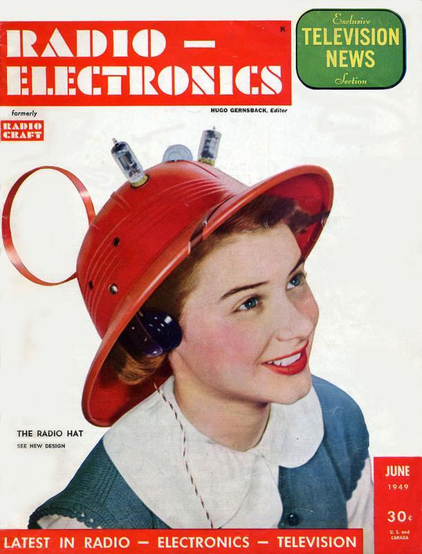 Man from Mars Radio Hat, cover Radio Electronics, juni 1949.