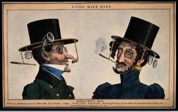 Revolving Hat, 1830.