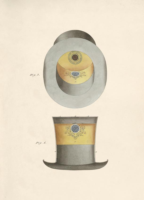 John Fuller Co., The Bonafide Ventilating Hat, 1849.
