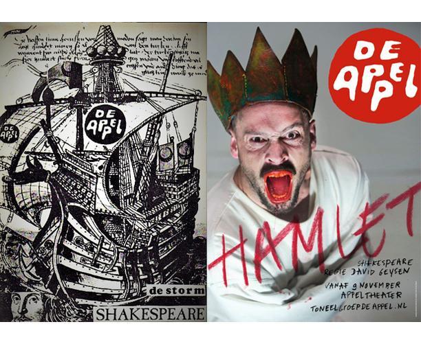Affiche De Storm, 1976 / Affiche Hamlet, 2016, Toneelgroep De Appel.