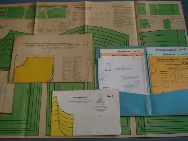 Afb. 6 achtergrond v/h A. Kemperman, blauwe map St. Anna en voorgrond N.P.D.. Bron: Roy Verschuren.