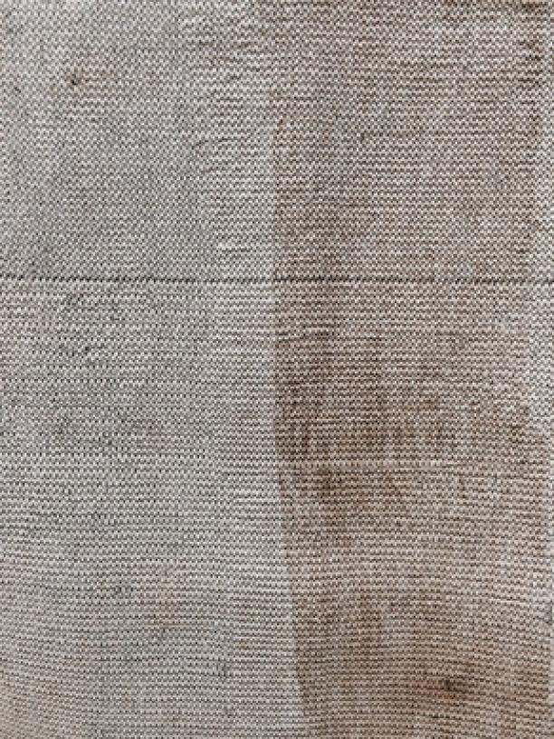 7. Modemuze blog Inge Bosman. Lenneke Langehuijsen, 'Wooden Textiles' black zig-zag stitch, natural – foto Website Buro Belén