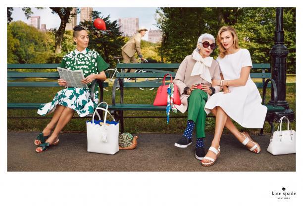 Iris Apfel en Karlie Kloss, Kate Spade campagne 2015, foto: © InStyle Magazine