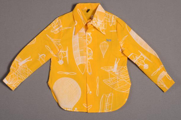 Barbara Farber, Jongensblouse behroend bij ensemble (inv. nr. 18202/001), 1973, aankoop 1973, katoen, metaal en kunststof, collectie Centraal Museum Utrecht