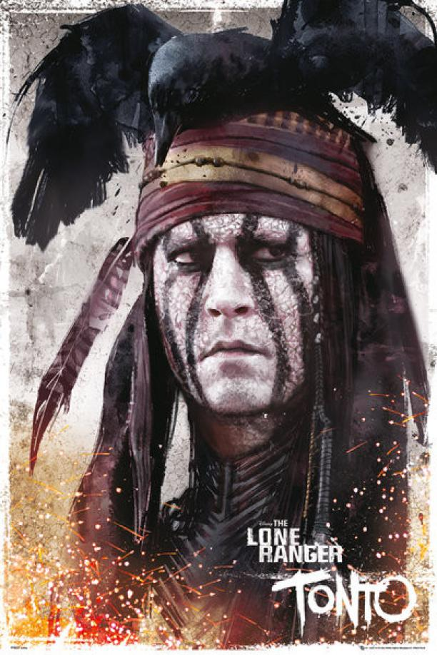 Johnny Depp als stereotype wilde en agressieve 'Indiaan' in de film Lone Range (2013)(foto:Peter Mountain - © Disney Enterprises, Inc. and Jerry Bruckheimer Inc. All Rights Reserved)
