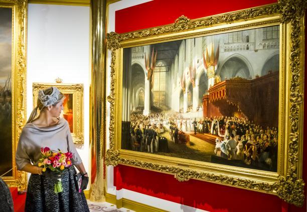 Afb. 1. Opening tentoonstelling Anna Paulowna door Koningin Máxima op Paleis Het Loo. Foto: F. van Beek.