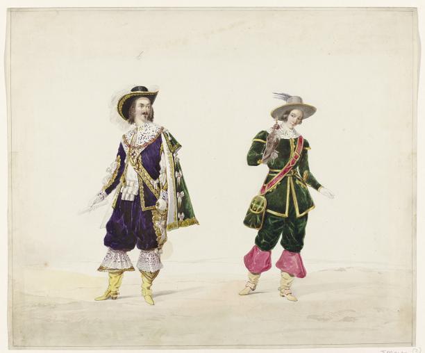 Afb. 1 Huib van Hove, twee mannen in historisch kostuum, 1841, collectie Rijksmuseum.