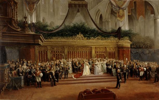 Mari ten Kate, De inhuldiging van koningin Wilhelmina, 1898. Koninklijke Verzamelingen, Den Haag.