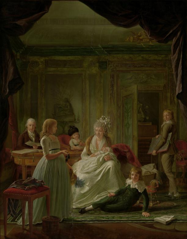Nicolaes Muys, Portret van het gezin van Aernout van Beeftingh, 1797, Rijksmuseum Amsterdam