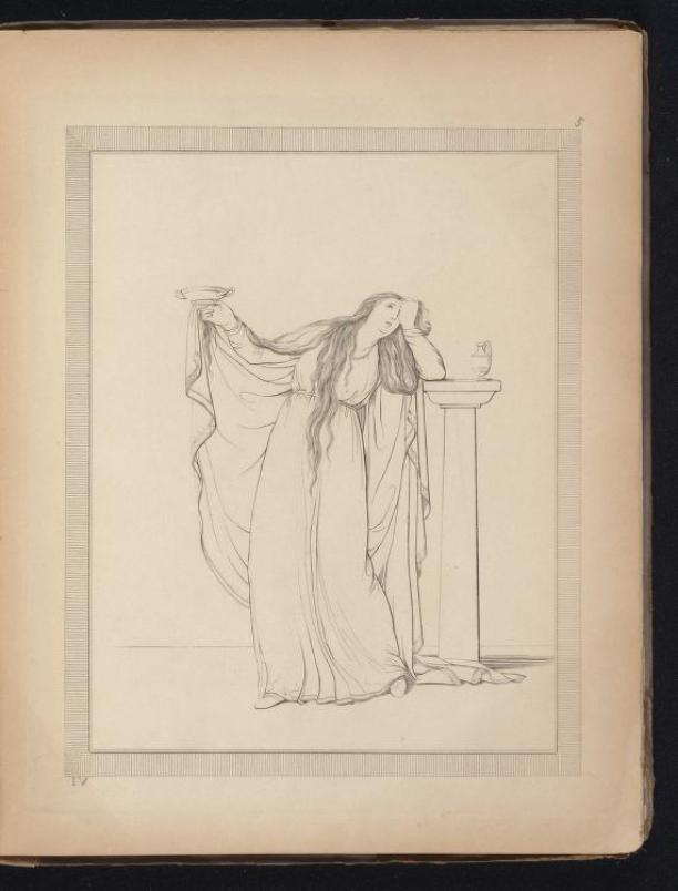 Afb. 2. Friedrich Rehberg, pose van Emma Hamilton, 1794.