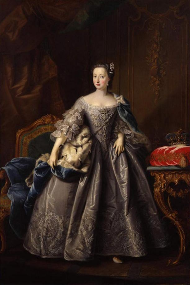 Afb. 2: Portret van Anna van Hannover, J.V. Tischbein, 1751. Fries Museum, Leeuwarden.
