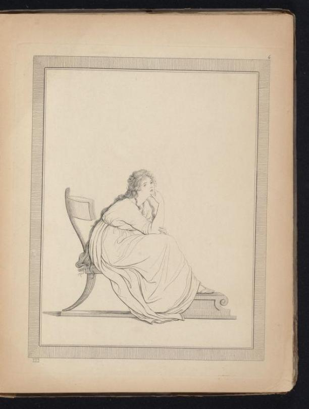 Afb. 3. Friedrich Rehberg, pose van Emma Hamilton, 1794.