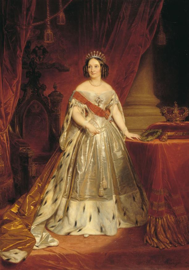 Afb. 3. Nicaise de Keyzer, jaren 1840, Anna Paulowna in haar inhuldigingskostuum. Koninklijke Verzamelingen, Den Haag.