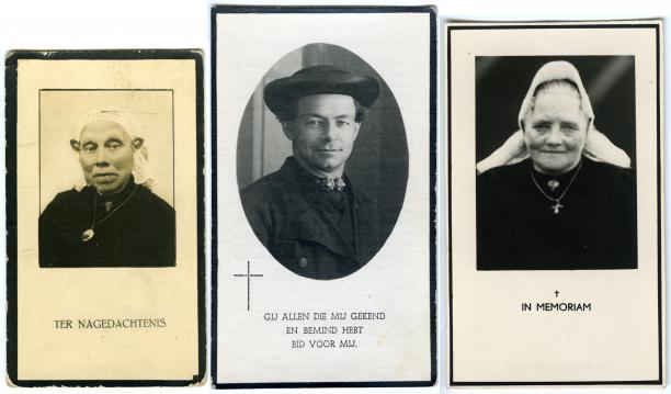 Afbeelding 3 Bidprentjes van het Nederlands Openluchtmuseum.