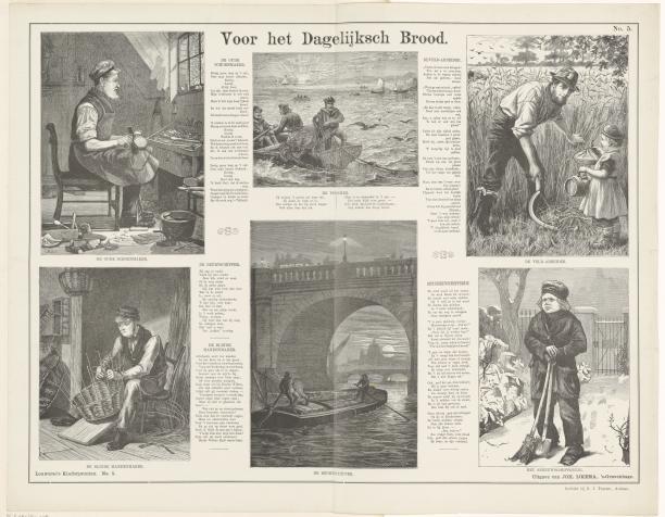 Afbeelding 3: C. Roberts, Voor het dagelijksch brood, prent, 1882-1905, (collectie Rijksmuseum).